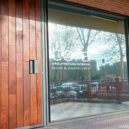 OFICINA CORA, Jose Bergamin, Madrid. Reforma Cora Arquitectura Interior-Fachada de vidrio laminado butiral