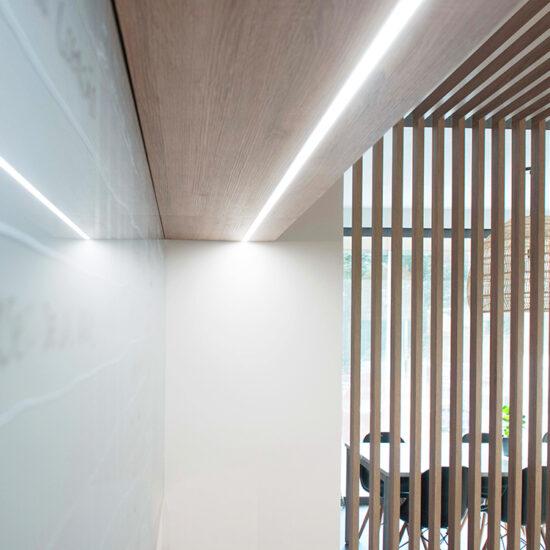 OFICINA CORA, Jose Bergamin, Madrid. Reforma Cora Arquitectura Interior-Detalle iluminación led